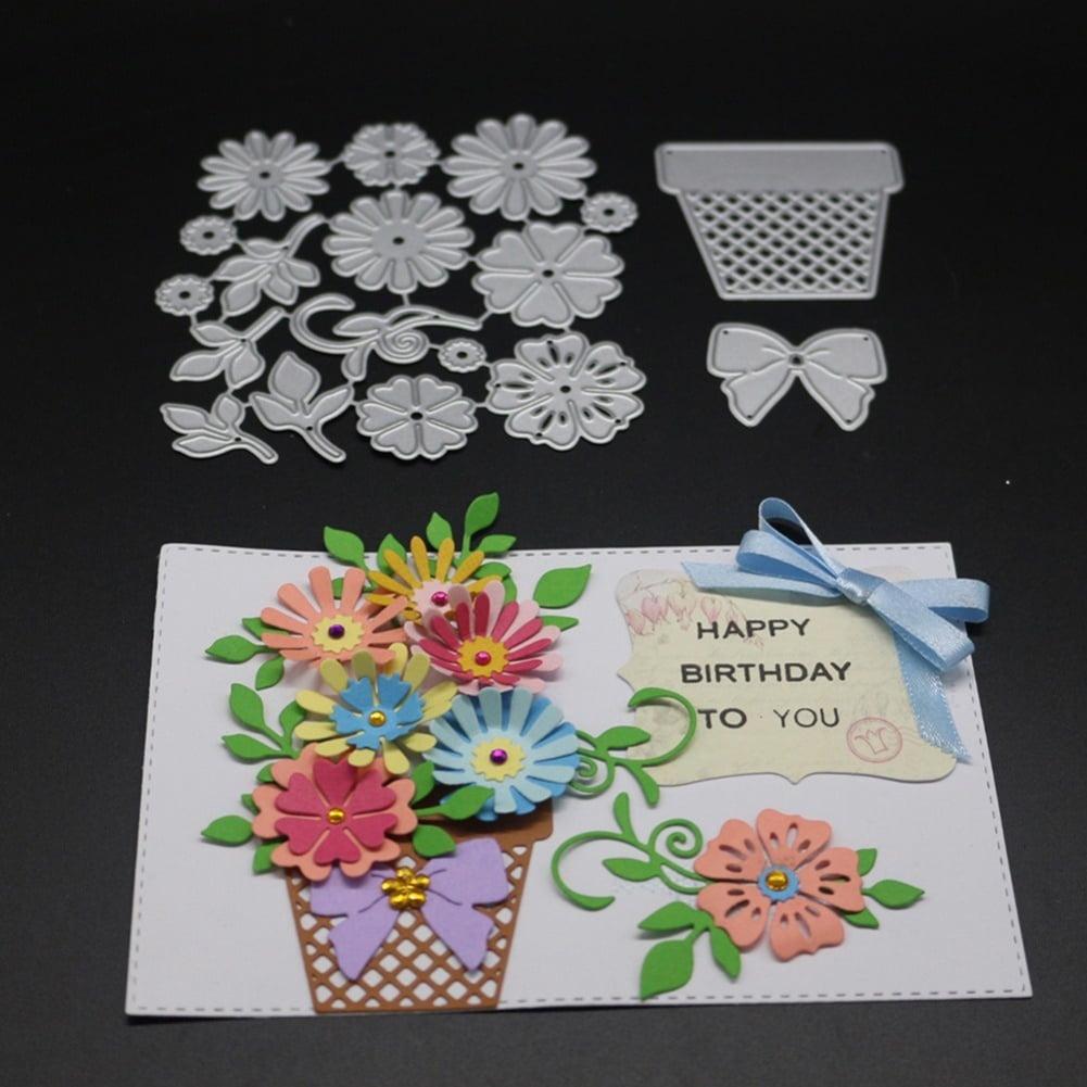 HiCoup Butterfly Flower Style Metal Cutting Die DIY Scrapbook Album Paper Crafts Decor