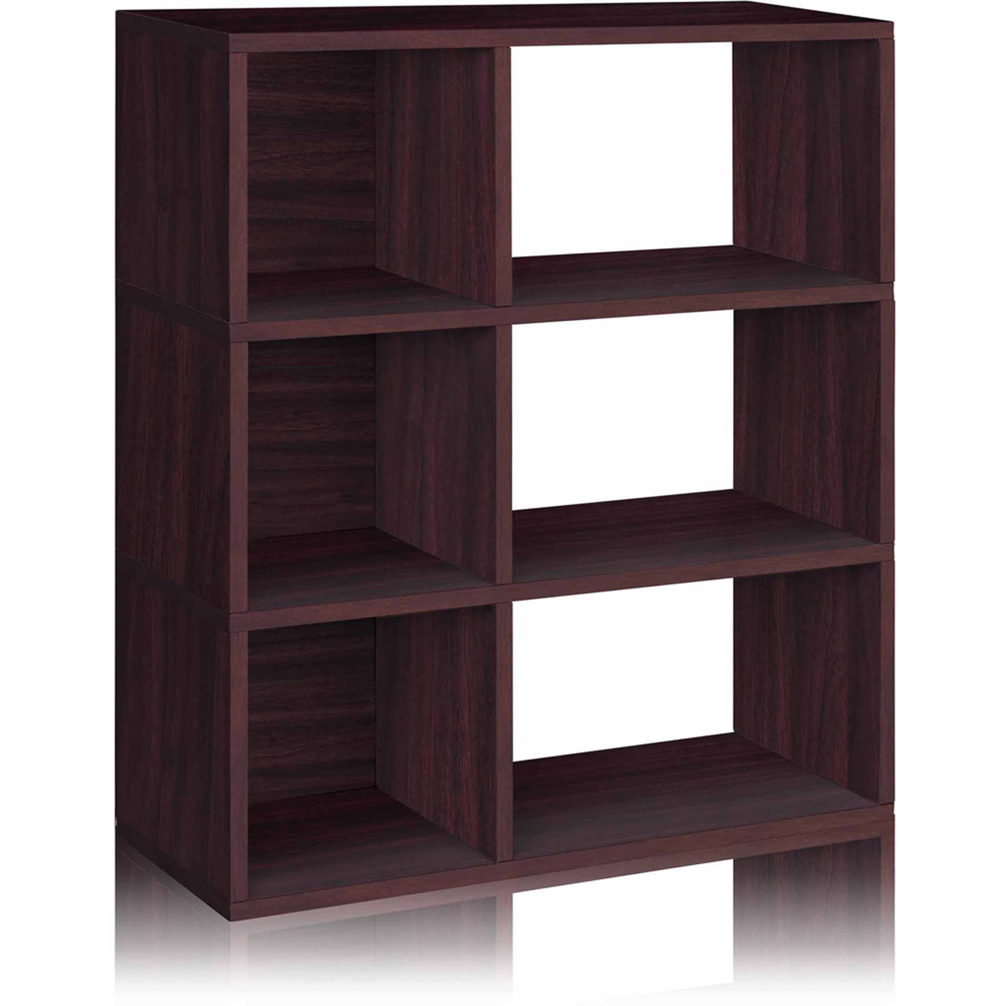 Way Basics Eco 3-Shelf Sutton Bookcase and Cubby Storage, Espresso