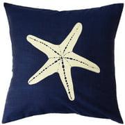 Sustainable Threads Jersey Coastline Starfish Cotton Throw Pillow
