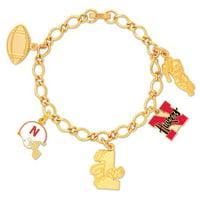 Nebraska Cornhuskers 5 Charm Bracelet