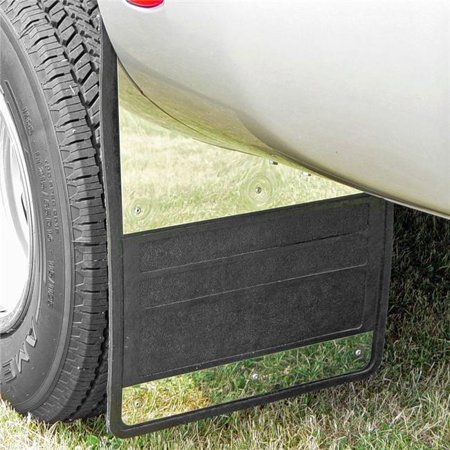 Owens 86RF099S 19 x 25 in. Classic Dually Rubber Mudflaps, Stainless Steel Insert