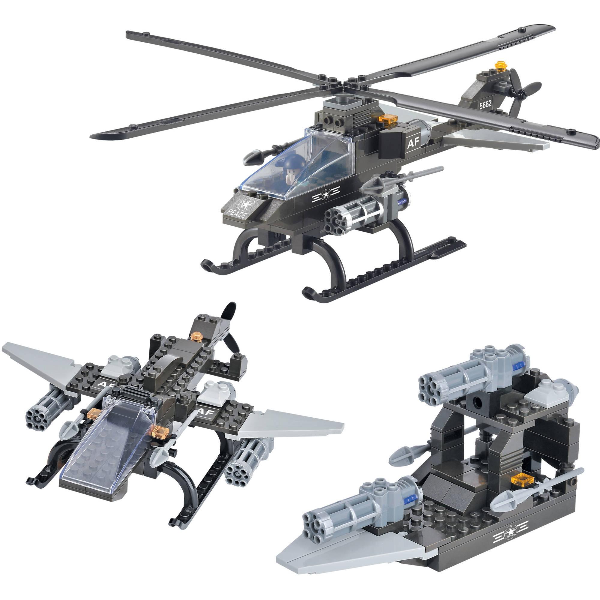 Brictek 3-in-1 Attack Helicopter