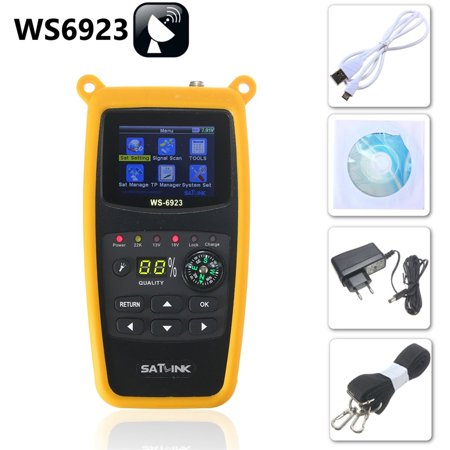 SatLink WS-6923 LCD DVB-S Professional Digital Satellite Signal TV Receiver Meter Finder (Best Fta Satellite Receiver)