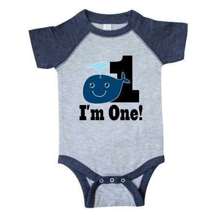 1st Birthday Boy Whale One Year Old Infant Creeper](Presents For 1 Year Old Boy)