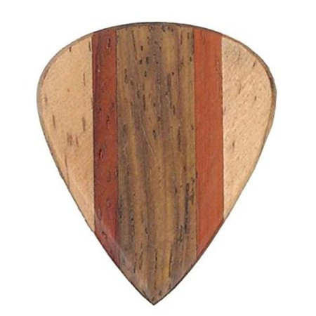 Clayton Alaia Wood Guitar Picks  Blond  3 Pack Multi Colored