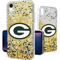 Green Bay Packers iPhone Glitter Case with Confetti Design