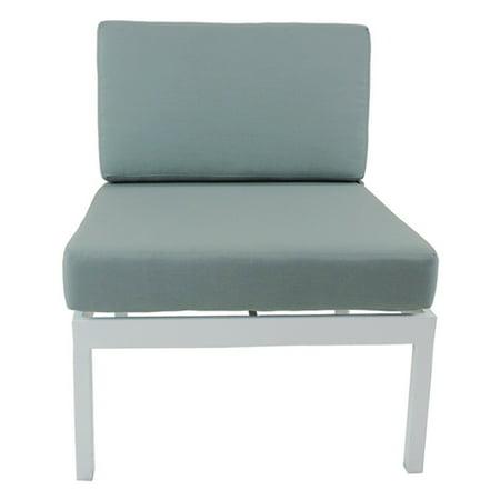 Patio Heaven Riviera Geo Patio Sectional Armless Chair with Sunbrella Cushions ()