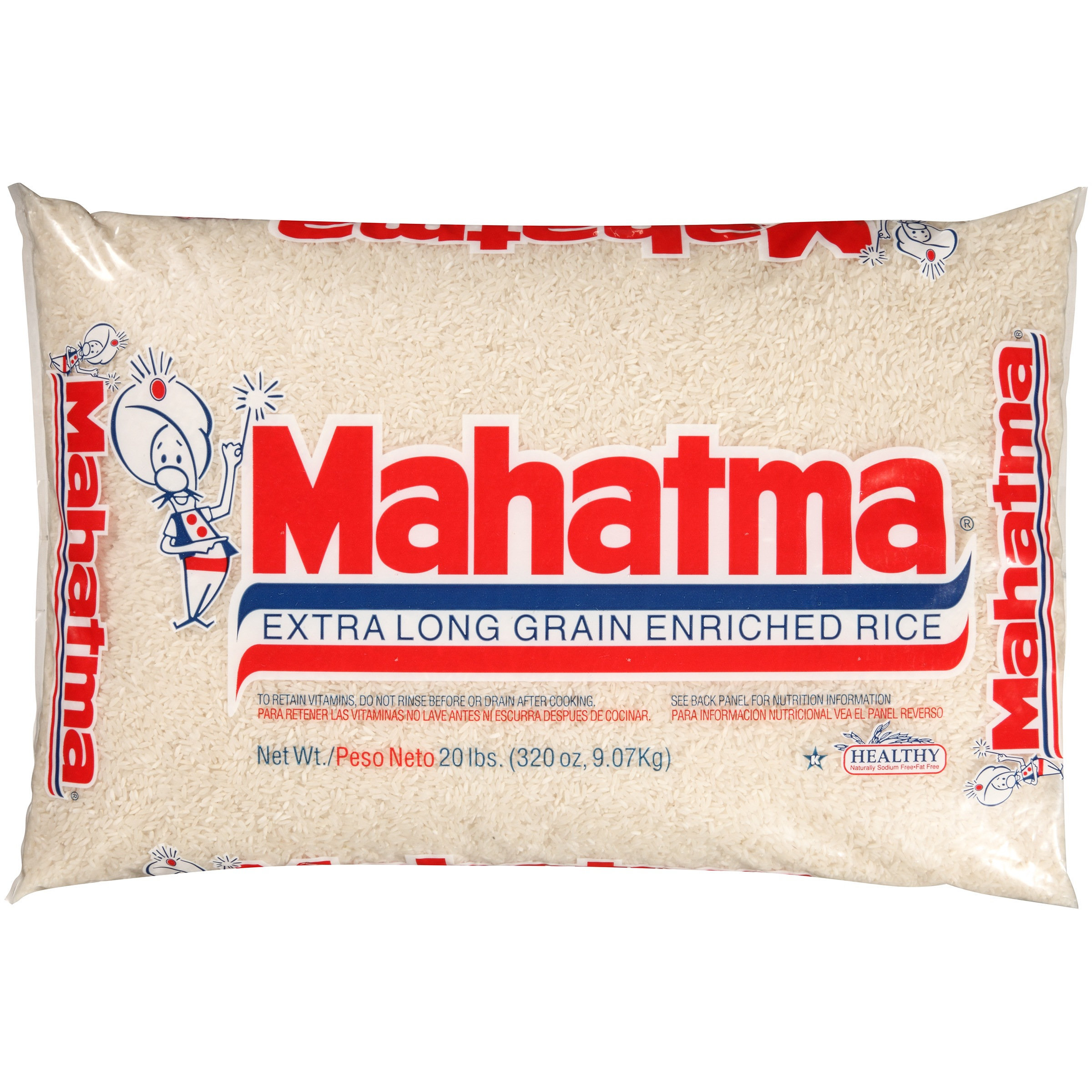 Mahatma Extra Long Grain Enriched Rice, 20 lb