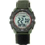 Men's Round Sport Watch, Green