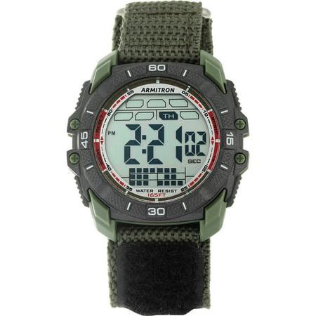 Men's Round Sport Watch, Green