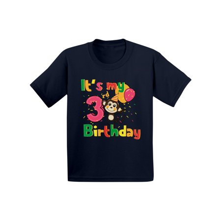 Awkward Styles Monkey Birthday Toddler Shirt Party 3rd Its My Im Three Boy Tshirt