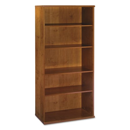Bush Series C Collection 36W 5 Shelf Bookcase, Natural Cherry
