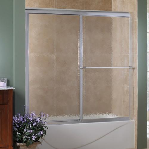 Hazelwood Home Chase 58'' x 55'' Single Sliding Framed Tub Door