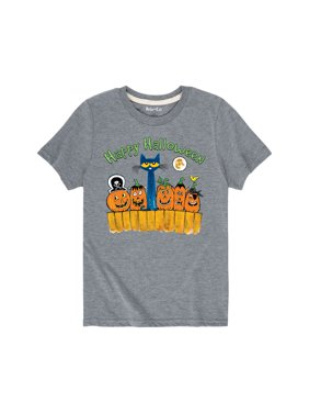 Pete The Cat Happy Halloween Toddler - Youth Short Sleeve Tee