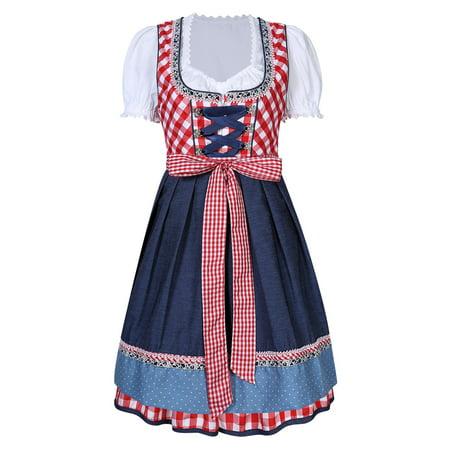 Bavarian Costume (German Ladies Dirndl Trachten 3 Pieces Oktoberfest Dress Bavarian Costume S -)