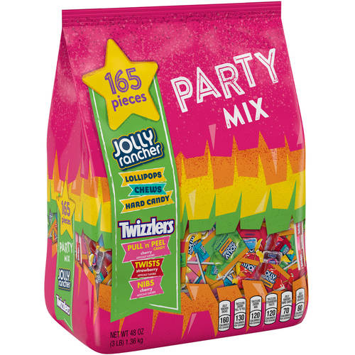 Jolly Rancher & Twizzlers, Party Mix Candy Snack Size Assortment, 48 Oz, 165 Ct