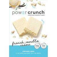 Powercrunch Original Protein Bar, 14g Protein, French Vanilla Cream, 7 Oz, 5 Ct