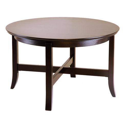 toby round coffee table, espresso - walmart