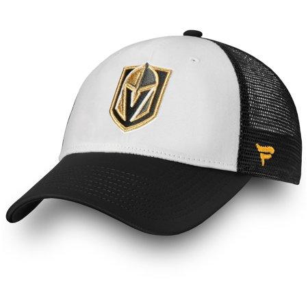 e90345cc Vegas Golden Knights Fanatics Branded Depth Trucker Adjustable Hat - White  - OSFA - Walmart.com
