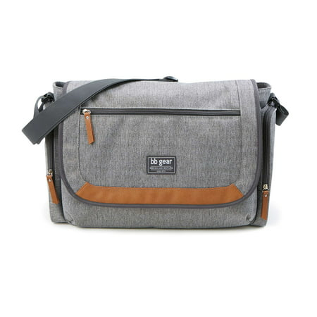 BB Gear Cross Hatch Duffle Messenger Diaper Bag