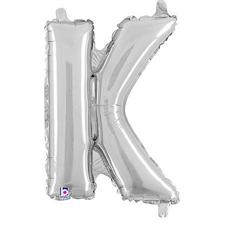 Letter K Silver Megaloon Junior Balloon