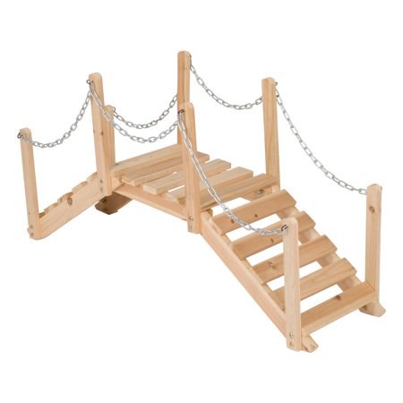 Bridge End Garden (Shine Company 3 Ft. Decorative Garden Bridge - Natural)