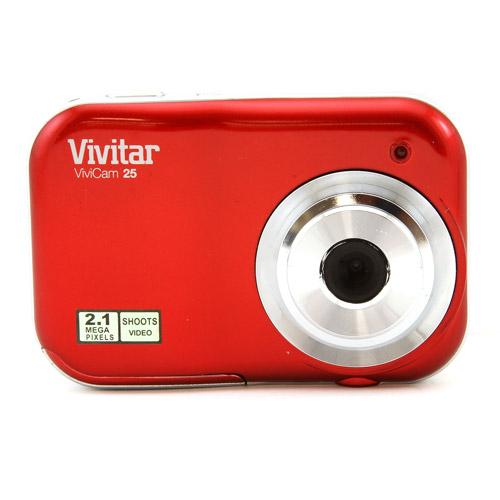 Vivitar Red V25 Digital Camera with 2.1 Megapixels