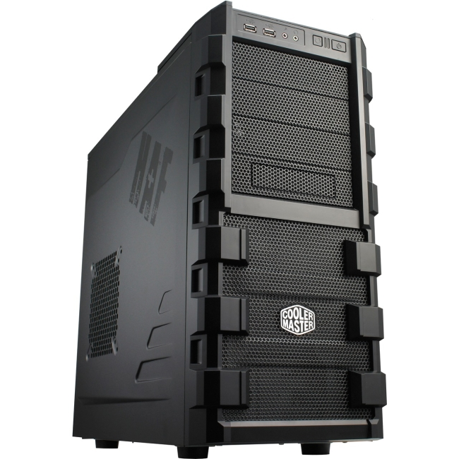 "Cooler Master HAF 912 Computer Case - Mid-tower - Black - Steel, Plastic, Mesh - 12 x Bay - 2 x 4.72"" x Fan(s) Installed"
