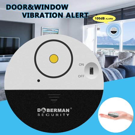 Door Window Alarm , 1Pc Super-Slim Wireless Window Door Entry Alarm Burglar Security Alarm System Magnetic Sensor Protector for