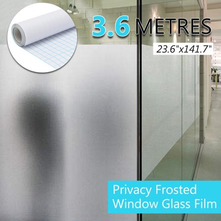 Clear Window Sticker - PVC Frosted Glass Window Film Sticker Removable For Office Home Bedroom Bathroom Protect Privacy 196.85x35.43