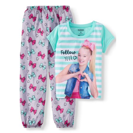 Girls' Jojo Siwa 2 Piece Pajama Sleep Set (Little Girl & Big Girl) (Girls Sleepwear)
