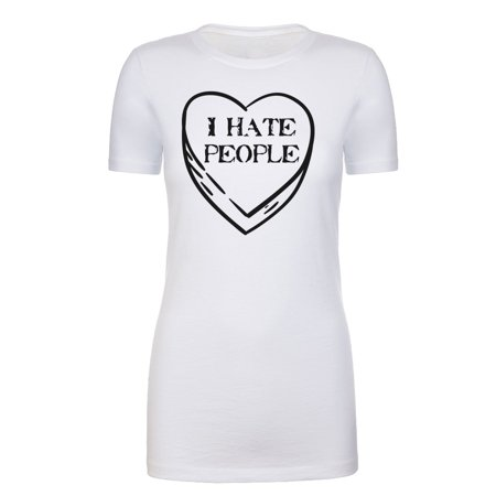 I Hate Valentine's Day shirts, Woman Crew Neck T-Shirts Stupid Cupid Graphic Tee - I Hate People