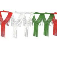 Drop Fringe Garland(Red/White/Green)