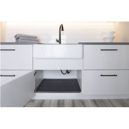 Xtreme Mats Under Sink Kitchen Cabinet Mat 33 5 8 X 21 7 Grey