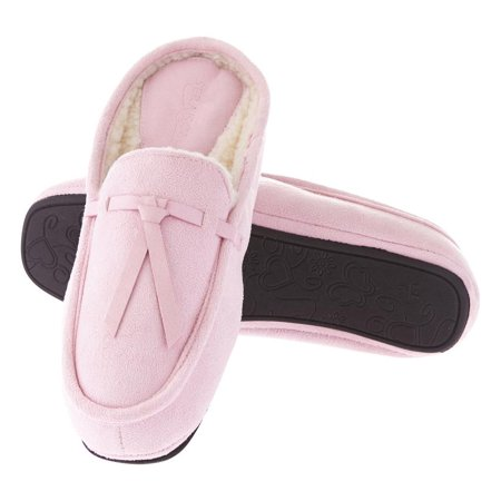 Seranoma Moccasin Slippers For Women: House Slippers, Soft And Comfortable, Warm For The Winter, Faux Fur Lined, Easy Slip-On Design, Machine Washable](Foldable Slippers In A Bag)