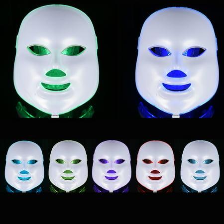 7 Color Modes LED Facial Mask - Pretty SeeSkin Rejuvenation Therapy Device Photon Light Mask Light Treatment Beauty Device