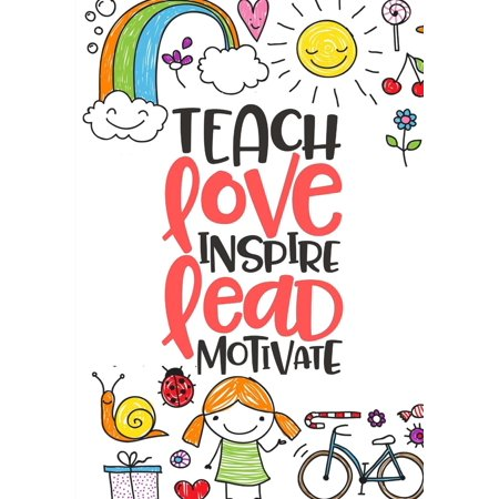 Teacher Appreciation Gift Idea: Teach Love Inspire Notebook: Perfect for Year End/Christmas/Thank You/Retirement Gifts for Teacher - Cute Halloween Gift Ideas For Teachers
