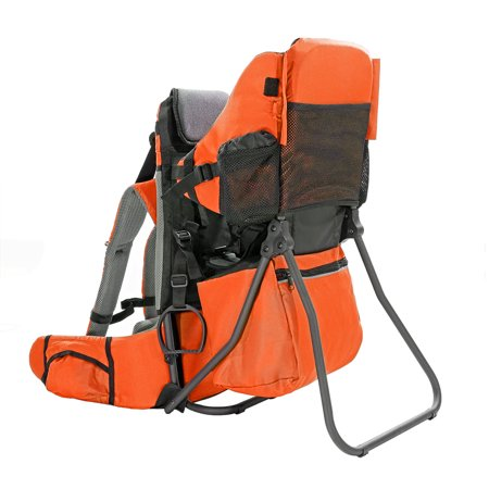 ClevrPlus Cross Country Lightweight Toddler Baby Backpack Hiking Child Carrier, Orange