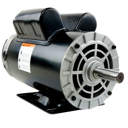 3/4 Hp Threaded Shaft Motor (5 HP Compressor Duty Electric Motor 1 Phase 3450 RPM 56 Frame 7/8