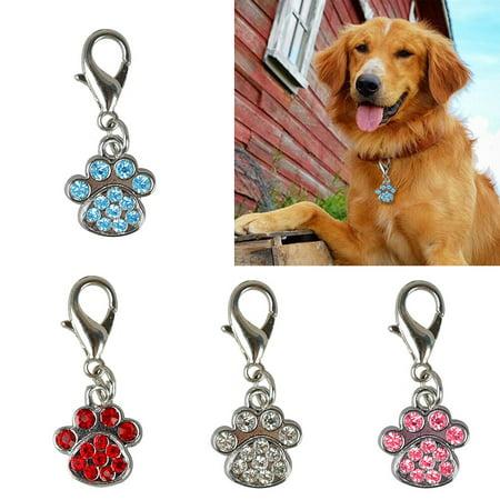 Moderna 1Pc Rhinestone Paw Collar Charm Pet Jewelry Dog Puppy Collar Necklace Pendant