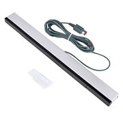 TSV Wired Infrared IR Ray Motion Sensor Bar Fit for Nintendo Wii and Wii U Console (Silver/Black)