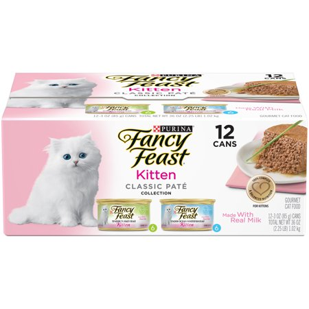 (12 Pack) Fancy Feast Kitten Classic Pate Variety Pack Wet Cat Food, 3 oz. cans