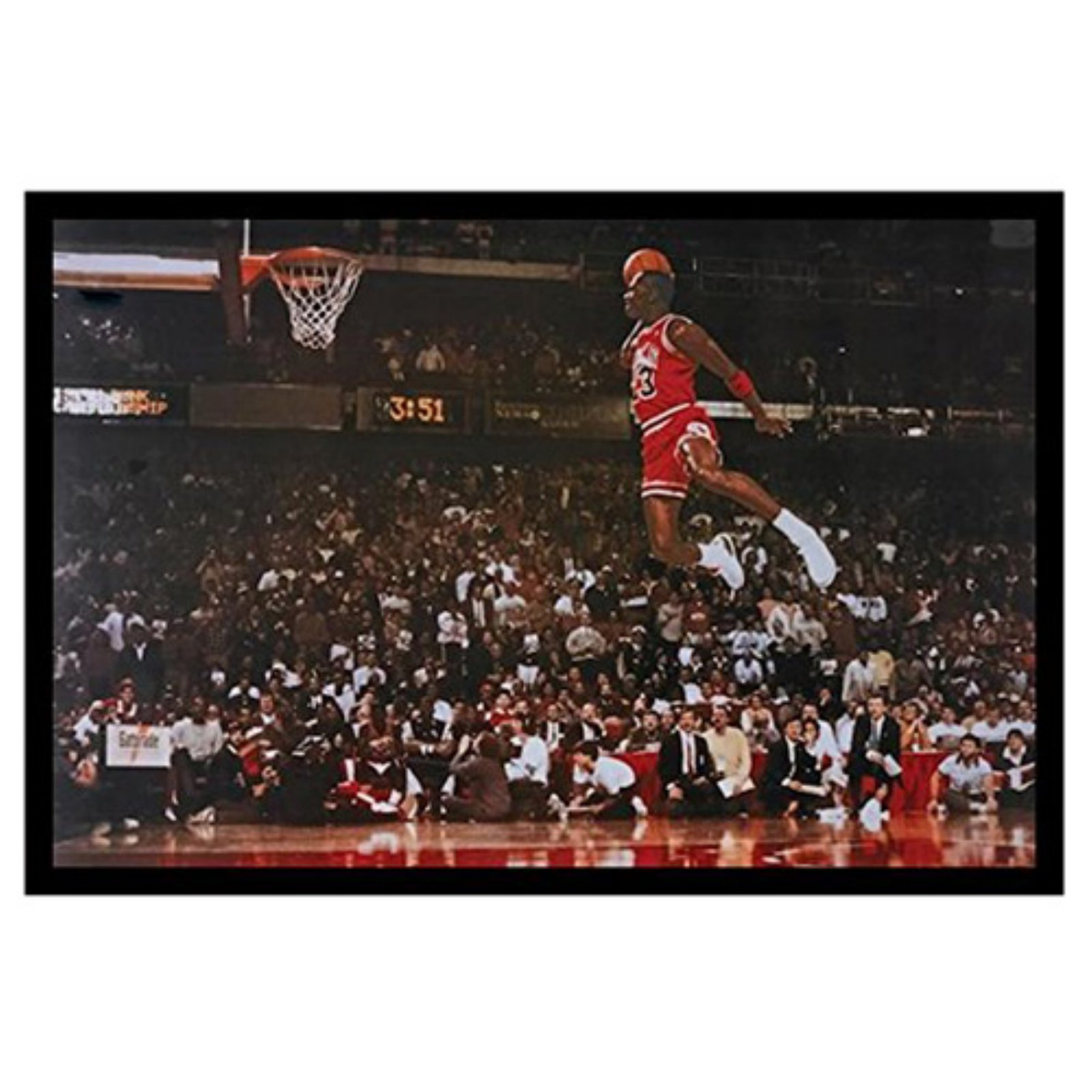 buyartforless Michael Jordan - Foul Line Dunk Framed Poster