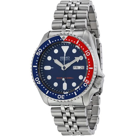 SEIKO SKX009K2,Men's Automatic Diver,Self Winding,Stainless Steel Case and bracelet,Screw Crown,200m WR,SKX009