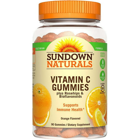 Sundown Naturals Vitamin C Dietary Supplement Gluten-Free Gummies, 90
