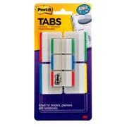 "Post-it Tabs Value Pack, Assorted Colors, 1"" and 2"" Sizes, 114 Tabs"