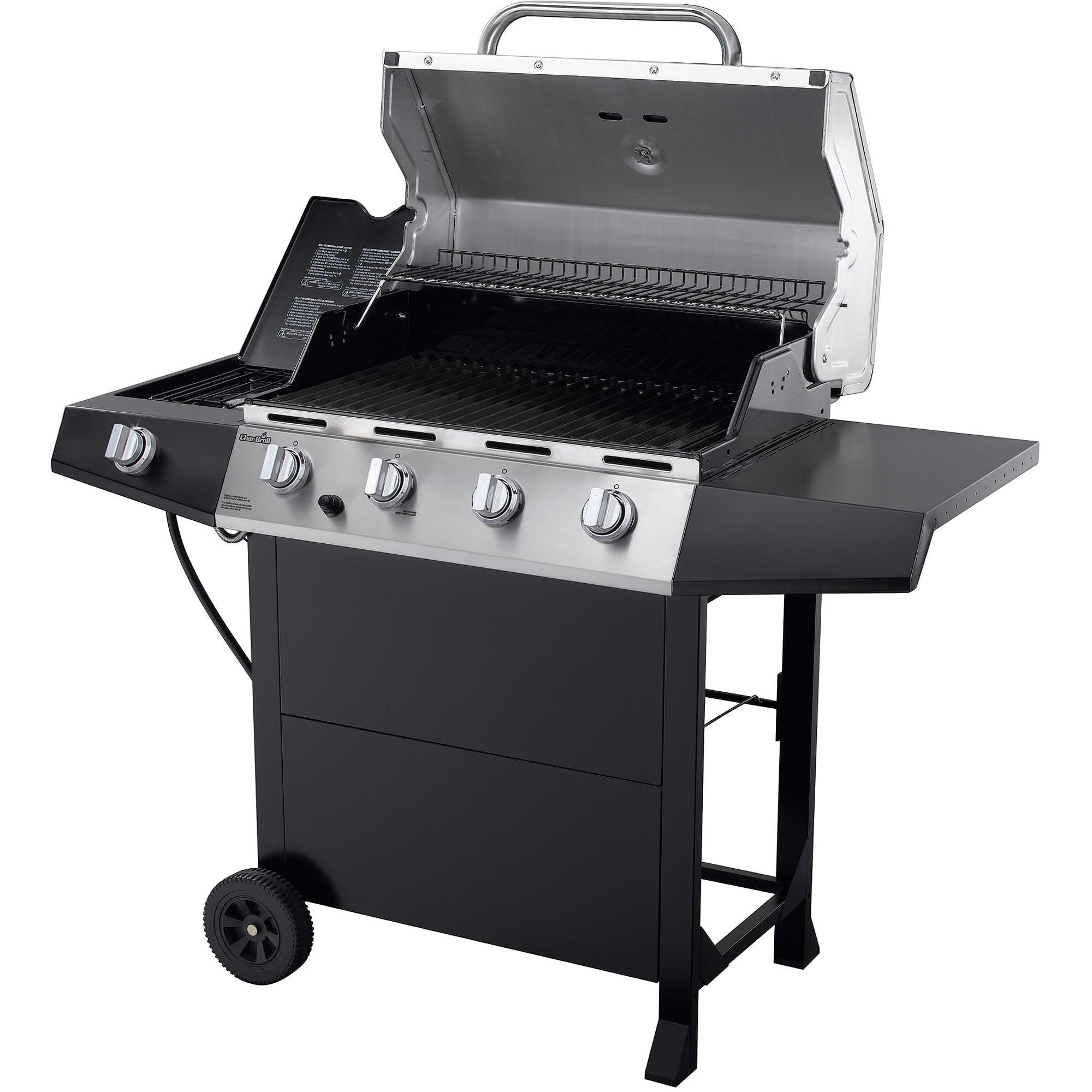 Char Broil 4 Burner Gas Grill Stainless Steel Black Walmart