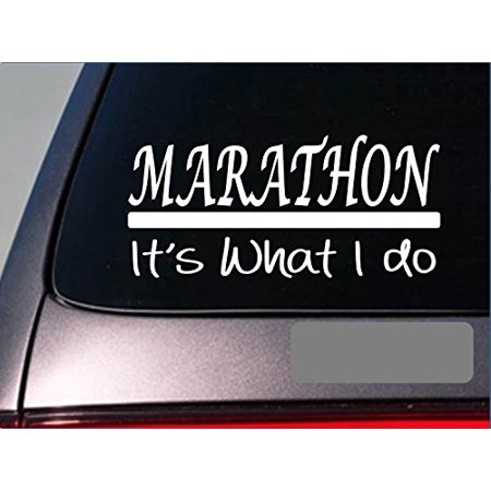 Marathon sticker decal *E279* running shoes treadmill triathalon runner 10k (Best Running Shoes For Marathon Runners)