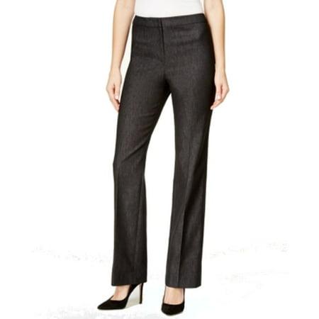 Kasper NEW Black Dark Women's Size 8P Petite Denim Boot Dress Pants