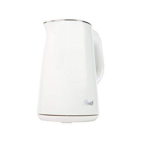 Rosewill RHKT-15001 1500W 1.5L Double Wall Insulated Stainless Steel Pot Tea Water Electric Kettle, White